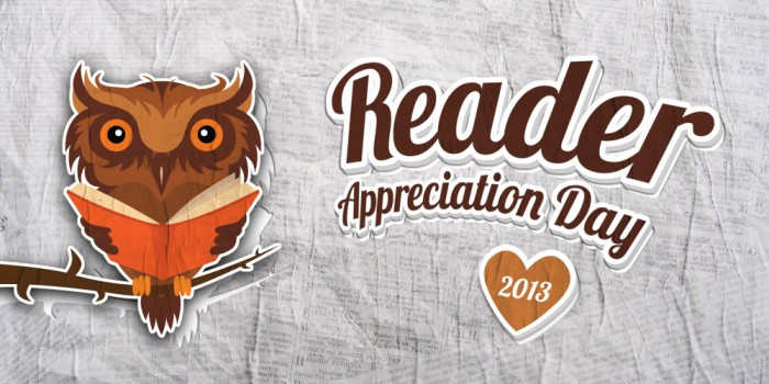 Reader Appreciation Day
