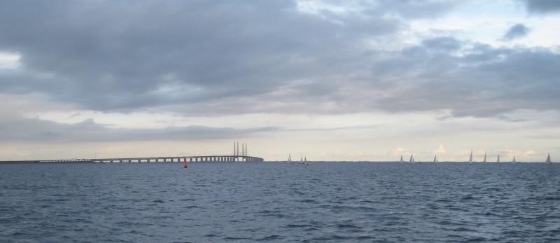 Feierabendregatta vor der Öresundbrücke bei Dragör