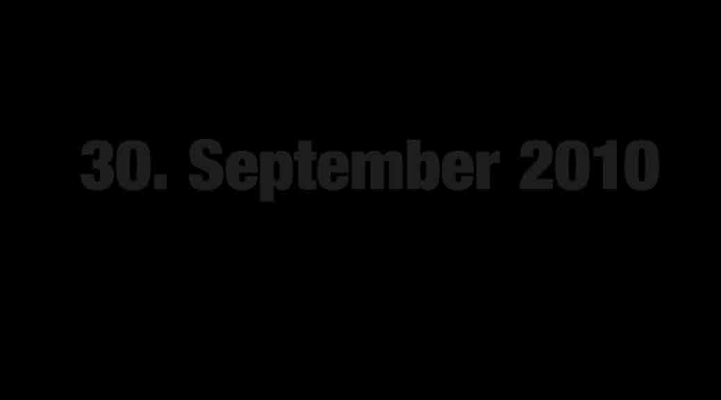 30. September 2010