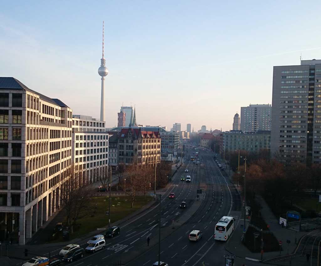 Blick vom Hotelzimmer - Guten Morgen, Berlin!